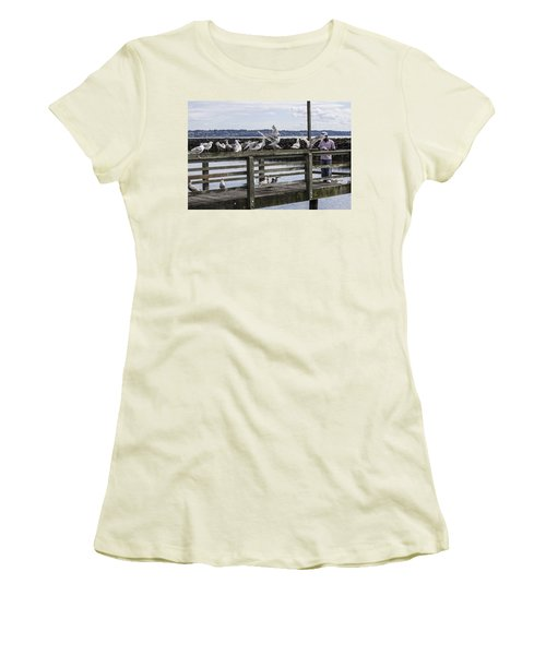 Dinner At The Marina Women's T-Shirt (Athletic Fit)
