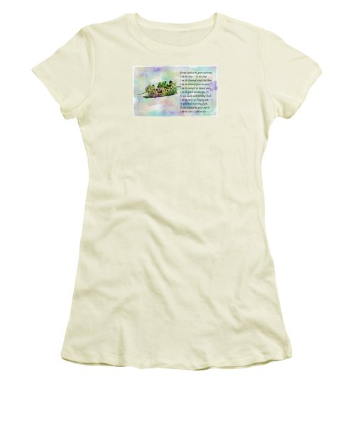 Do Not Stand At My Grave And Weep Women's T-Shirt (Junior Cut) by Barbara Griffin