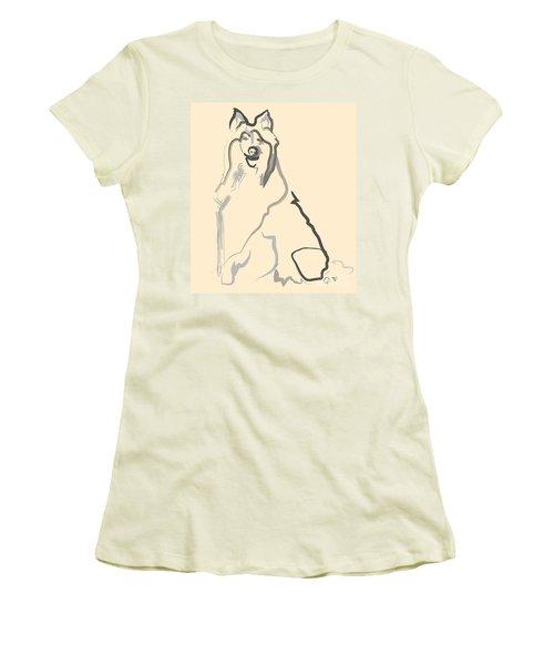 Dog - Lassie Women's T-Shirt (Junior Cut) by Go Van Kampen