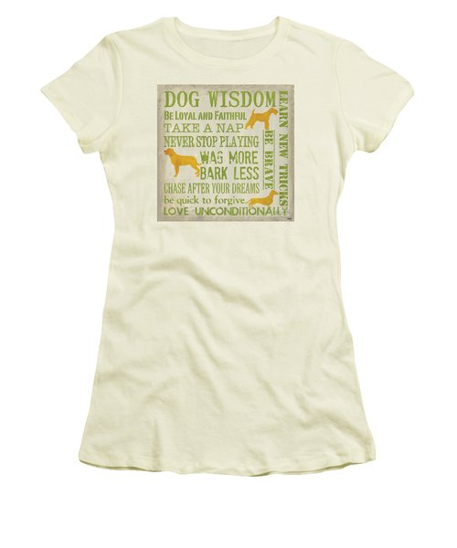 Dog Wisdom Women's T-Shirt (Athletic Fit)