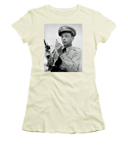 Barney Fife - Don Knotts Women's T-Shirt (Junior Cut) by Mountain Dreams