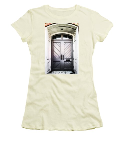 Doorway At Morris Avenue Women's T-Shirt (Junior Cut) by Shelby  Young