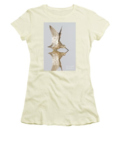 Dowitcher Wing Stretch Women's T-Shirt (Junior Cut) by Bryan Keil