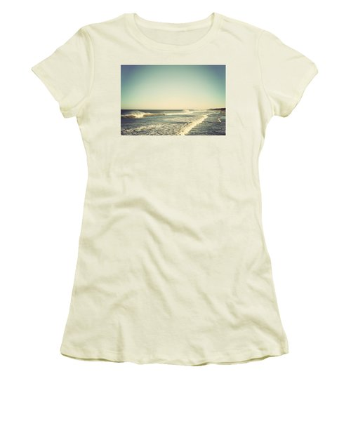Down The Shore - Seaside Heights Jersey Shore Vintage Women's T-Shirt (Junior Cut) by Terry DeLuco