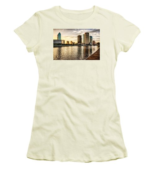 Downtown Tampa At Sunrise Women's T-Shirt (Junior Cut)