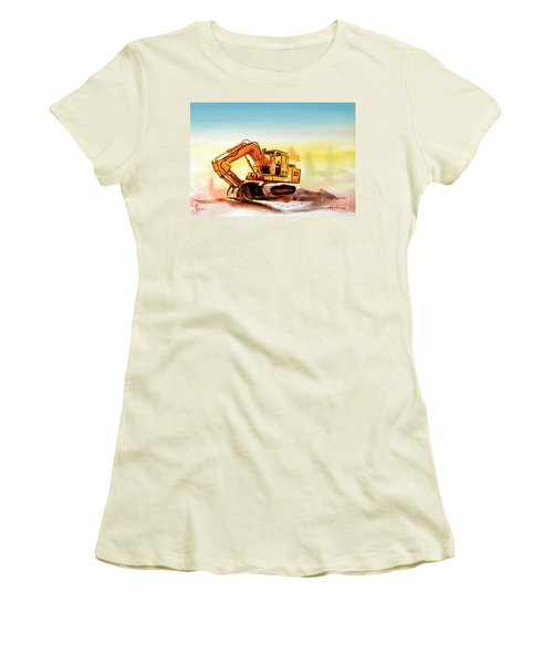 Dozer October Women's T-Shirt (Junior Cut) by Kip DeVore