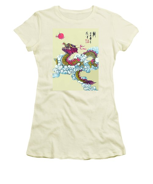 Dragon Women's T-Shirt (Junior Cut) by Yufeng Wang