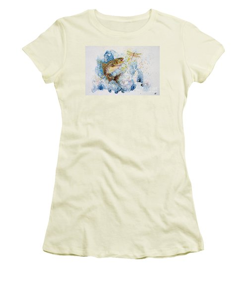 Dragonfly Hunter Women's T-Shirt (Junior Cut) by Zaira Dzhaubaeva