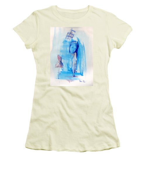 Women's T-Shirt (Junior Cut) featuring the painting Dreaming Of Pisa by Laurie L