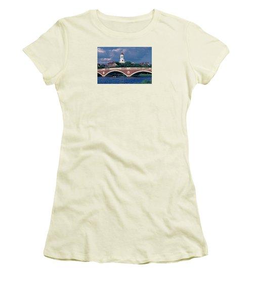 Weeks Bridge Charles River Women's T-Shirt (Junior Cut) by Tom Wurl