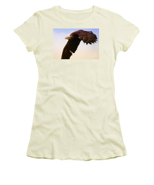 Women's T-Shirt (Junior Cut) featuring the photograph Eagle In Flight by Nick  Biemans