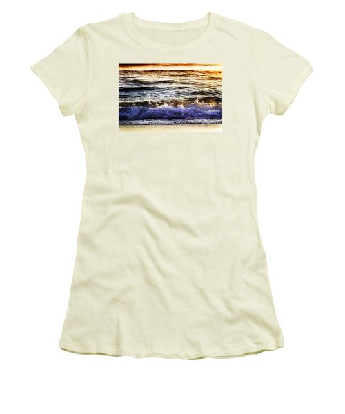 Early Morning Frothy Waves Women's T-Shirt (Junior Cut) by Amyn Nasser