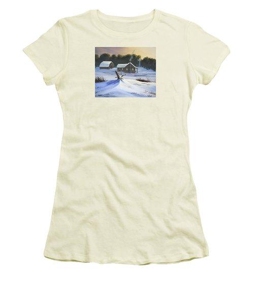 Early Snow Women's T-Shirt (Junior Cut) by Jack Malloch