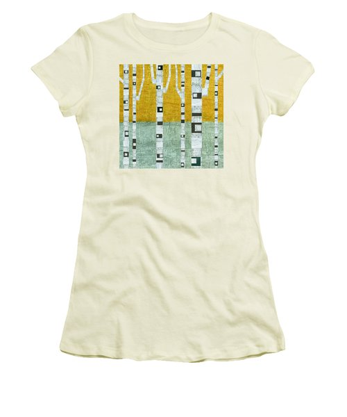 Early Winter Birches Women's T-Shirt (Athletic Fit)