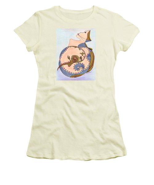 Earth In Harmony Women's T-Shirt (Junior Cut) by Mukta Gupta
