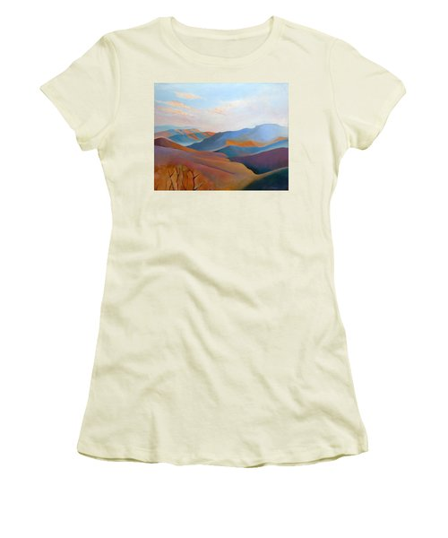 East Fall Blue Ridge No.3 Women's T-Shirt (Junior Cut) by Catherine Twomey