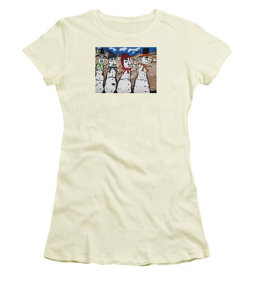 Easter Island Snow Men Women's T-Shirt (Athletic Fit)