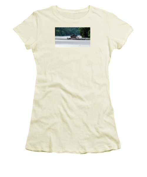 Women's T-Shirt (Junior Cut) featuring the photograph Eerie Day by Elaine Malott