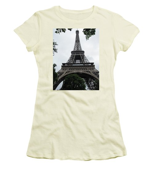 Women's T-Shirt (Junior Cut) featuring the photograph Eiffel Tower by Pema Hou