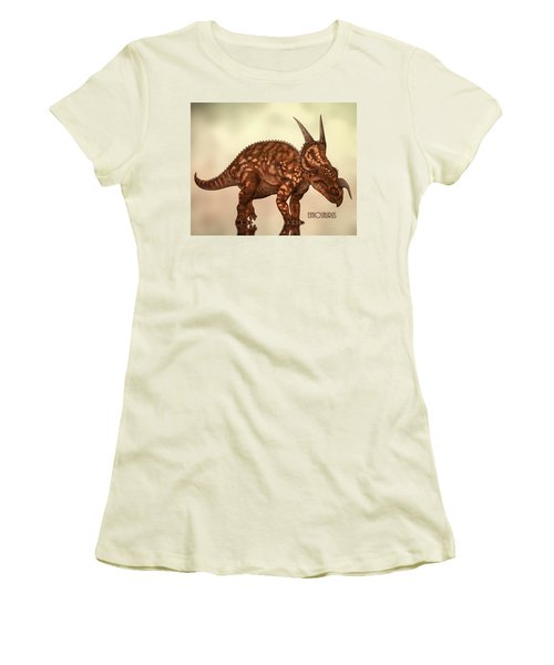 Einiosaurus Women's T-Shirt (Junior Cut) by Bob Orsillo