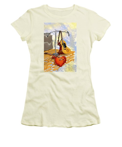 Electrical Meltdown Women's T-Shirt (Junior Cut) by Mike McGlothlen