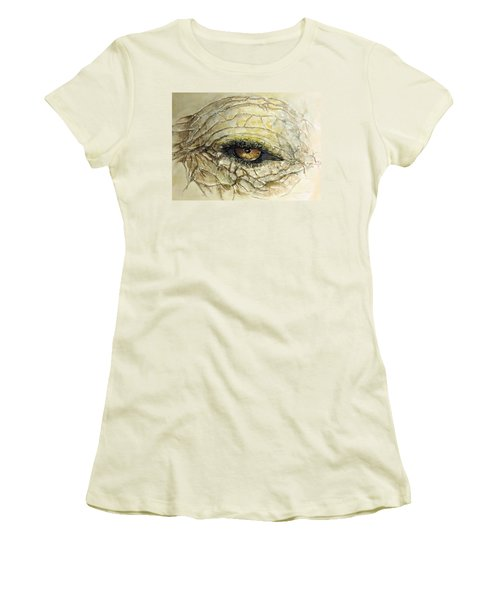 Elephant Eye Women's T-Shirt (Junior Cut) by Bernadette Krupa