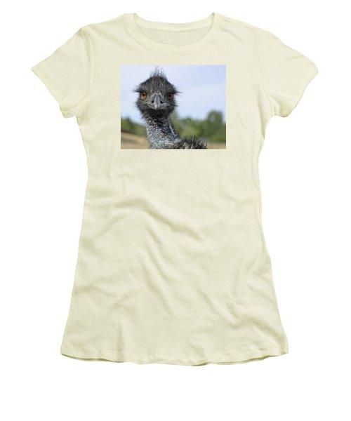 Emu Gaze Women's T-Shirt (Junior Cut) by Belinda Greb