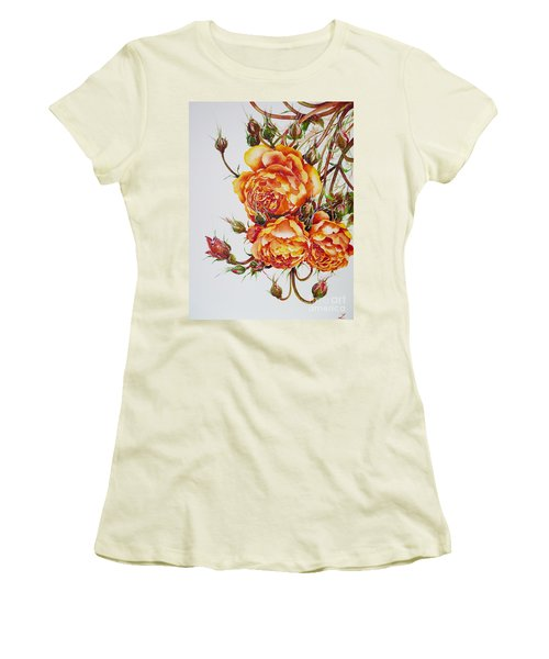 English Roses Women's T-Shirt (Junior Cut) by Zaira Dzhaubaeva