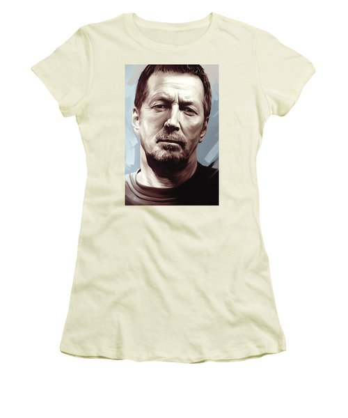 Eric Clapton Artwork Women's T-Shirt (Junior Cut) by Sheraz A