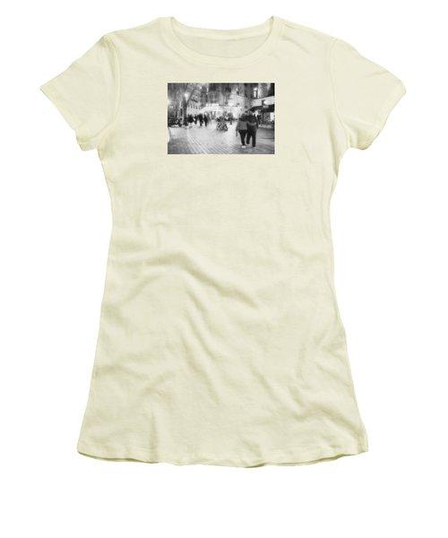 Evening Stroll In Paris Women's T-Shirt (Junior Cut) by Hugh Smith