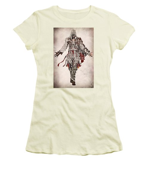 Ezio Auditore Da Firenze From Assassin's Creed 2  Women's T-Shirt (Athletic Fit)