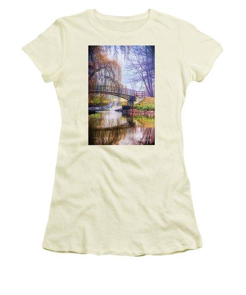 Fairytale Bridge Women's T-Shirt (Junior Cut) by Mariola Bitner