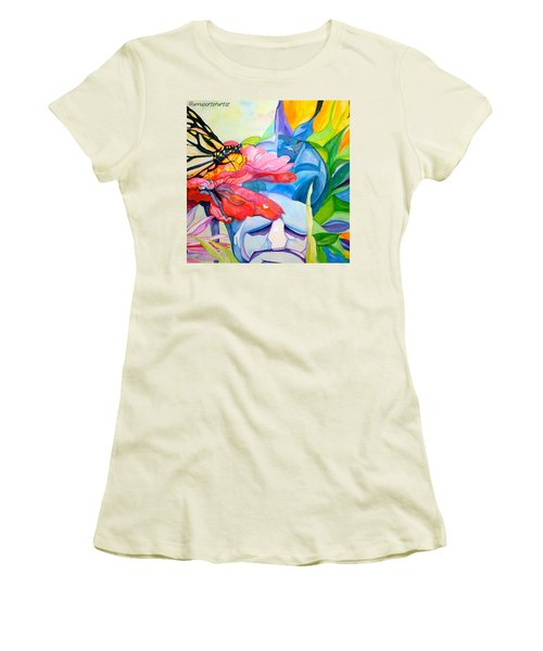 Fiji Dreams - Original Watercolor Painting Women's T-Shirt (Junior Cut) by Anna Porter
