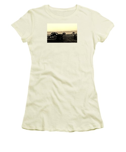 Firing Line Women's T-Shirt (Junior Cut) by Daniel Thompson