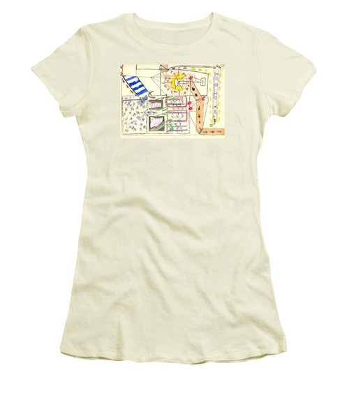 First Abstract Women's T-Shirt (Athletic Fit)
