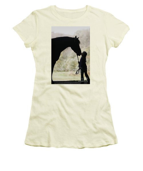 First Kiss Women's T-Shirt (Athletic Fit)