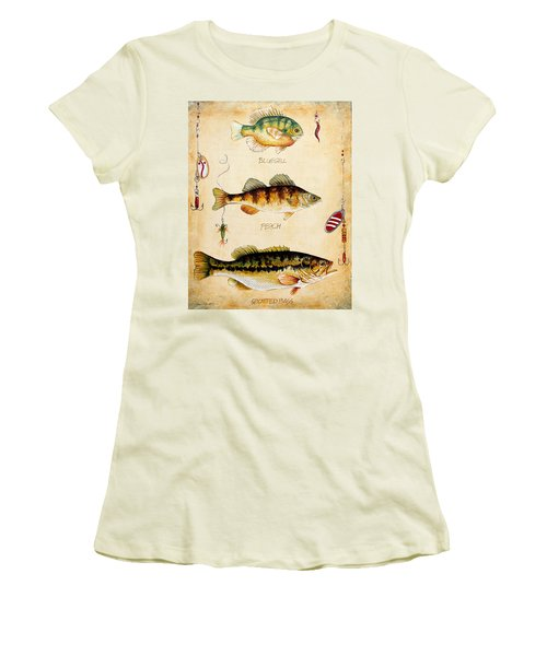 Fish Trio-c Women's T-Shirt (Junior Cut) by Jean Plout
