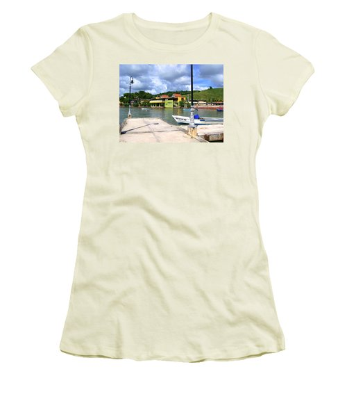 Fishing Village Puerto Rico Women's T-Shirt (Athletic Fit)