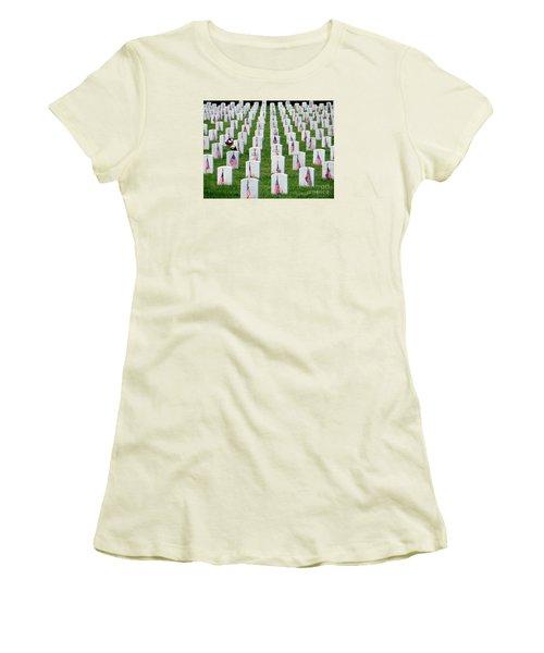 Women's T-Shirt (Junior Cut) featuring the photograph Flags Of Honor by Ed Weidman