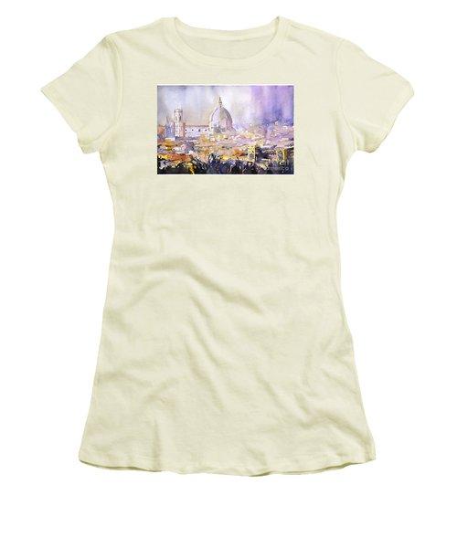 Florence Duomo Women's T-Shirt (Junior Cut) by Ryan Fox