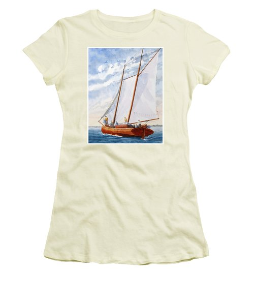 Florida Catboat At Sea Women's T-Shirt (Athletic Fit)