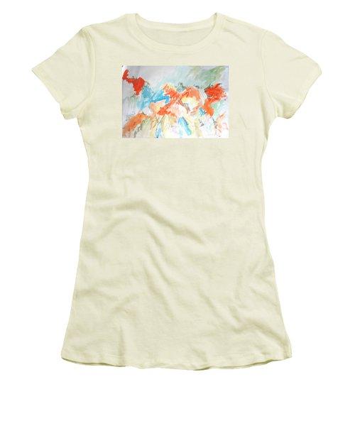 Flower Bursts Women's T-Shirt (Junior Cut) by Esther Newman-Cohen