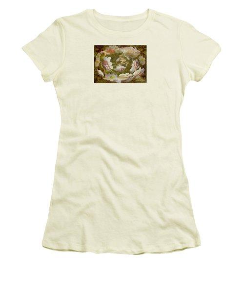 Women's T-Shirt (Junior Cut) featuring the photograph Flower Drift by Nareeta Martin