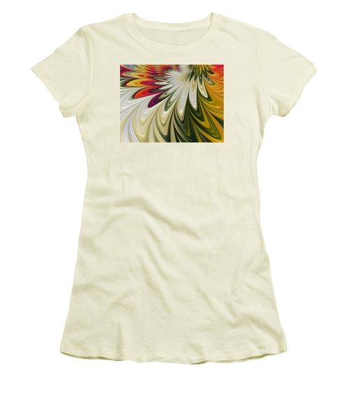 Women's T-Shirt (Junior Cut) featuring the digital art Flower Power by Gabriella Weninger - David