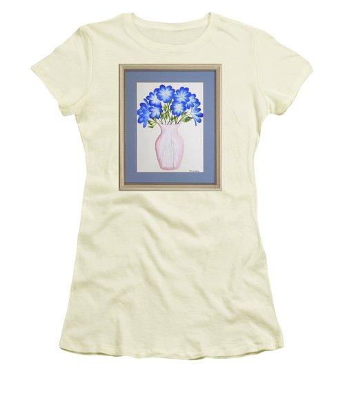 Flowers In A Vase Women's T-Shirt (Junior Cut) by Ron Davidson