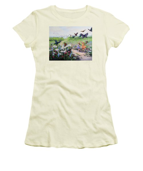 Flutterby Dreams Women's T-Shirt (Athletic Fit)