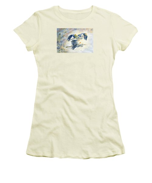 Flying Together Women's T-Shirt (Junior Cut) by Melly Terpening