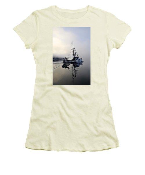 Fog Bound Women's T-Shirt (Junior Cut) by Cathy Mahnke