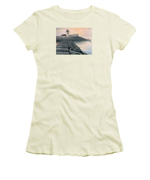 Fog Burning Off Women's T-Shirt (Junior Cut) by Eileen Patten Oliver