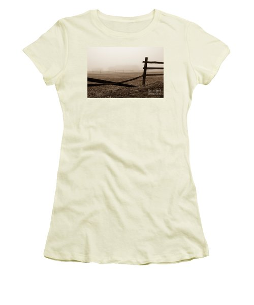 Foggy Pasture Women's T-Shirt (Athletic Fit)